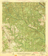 Robertsdale, Alabama 1943 (1943) USGS Old Topo Map Reprint 15x15 AL Quad 305671