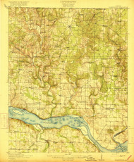 Rogersville, Alabama 1916 (1916) USGS Old Topo Map Reprint 15x15 AL Quad 305674