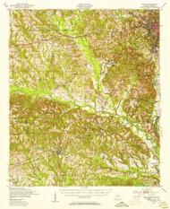 Seale, Alabama 1950 (1955) USGS Old Topo Map Reprint 15x15 AL Quad 305684