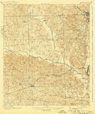 Seale, Alabama 1914 (1943) USGS Old Topo Map Reprint 15x15 AL Quad 305683