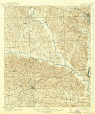 Seale, Alabama 1914 (1939) USGS Old Topo Map Reprint 15x15 AL Quad 305682