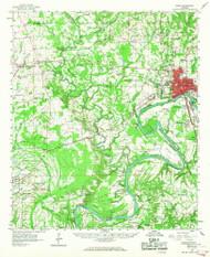 Selma, Alabama 1958 (1967) USGS Old Topo Map Reprint 15x15 AL Quad 305698
