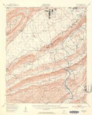 Steele, Alabama 1947 (1953) USGS Old Topo Map Reprint 15x15 AL Quad 464523