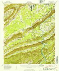 Steele, Alabama 1947 (1953) USGS Old Topo Map Reprint 15x15 AL Quad 305700