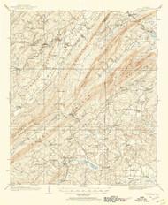 Vandiver, Alabama 1906 (1954) USGS Old Topo Map Reprint 15x15 AL Quad 305722