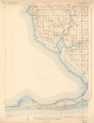 Weeks Bay, Alabama 1943 (1943) USGS Old Topo Map Reprint 15x15 AL Quad 464549
