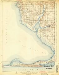 Weeks Bay, Alabama 1943 (1943) USGS Old Topo Map Reprint 15x15 AL Quad 305729