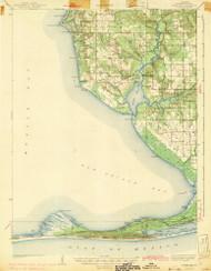Weeks Bay, Alabama 1943 (1943) USGS Old Topo Map Reprint 15x15 AL Quad 305730