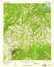 Wetumpka, Alabama 1959 (1960) USGS Old Topo Map Reprint 15x15 AL Quad 305734