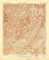 Yolande, Alabama 1935 (1945) USGS Old Topo Map Reprint 15x15 AL Quad 305742