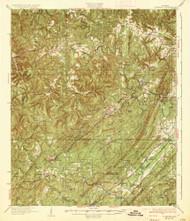 Yolande, Alabama 1935 (1935) USGS Old Topo Map Reprint 15x15 AL Quad 305741