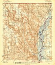 Century, Florida 1943 (1943) USGS Old Topo Map Reprint 15x15 AL Quad 345462