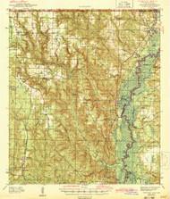 Century, Florida 1943 (1943) USGS Old Topo Map Reprint 15x15 AL Quad 345463