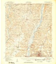 Crestview, Florida 1951 (1951) USGS Old Topo Map Reprint 15x15 AL Quad 345660