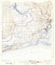Fort Barrancas, Florida 1943 (1943) USGS Old Topo Map Reprint 15x15 AL Quad 346204