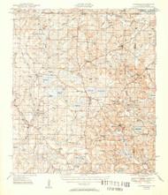 Glendale, Florida 1951 (1951) USGS Old Topo Map Reprint 15x15 AL Quad 346449
