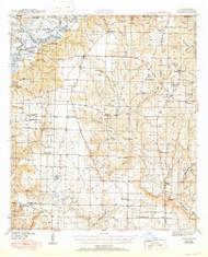 Jay, Florida 1943 (1950) USGS Old Topo Map Reprint 15x15 AL Quad 346851