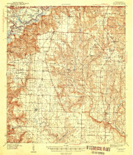 Jay, Florida 1943 (1943) USGS Old Topo Map Reprint 15x15 AL Quad 346849