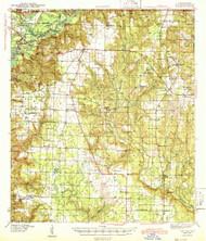 Jay, Florida 1943 (1943) USGS Old Topo Map Reprint 15x15 AL Quad 346850