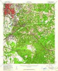 Columbus, Georgia 1955 (1961) USGS Old Topo Map Reprint 15x15 AL Quad 247402