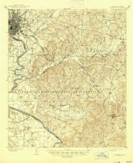 Columbus, Georgia 1908 (1945) USGS Old Topo Map Reprint 15x15 AL Quad 247400