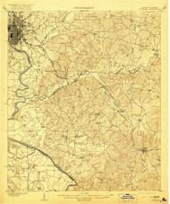 Columbus, Georgia 1908 (1921) USGS Old Topo Map Reprint 15x15 AL Quad 247395