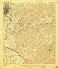Columbus, Georgia 1908 (1920) USGS Old Topo Map Reprint 15x15 AL Quad 247394