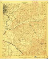 Columbus, Georgia 1908 (1908) USGS Old Topo Map Reprint 15x15 AL Quad 247393