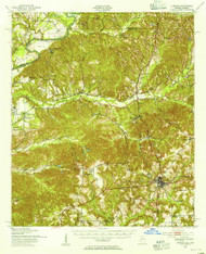 Lumpkin, Georgia 1950 (1955) USGS Old Topo Map Reprint 15x15 AL Quad 247507