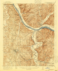 Iuka, Mississippi 1914 (1941) USGS Old Topo Map Reprint 15x15 AL Quad 336940