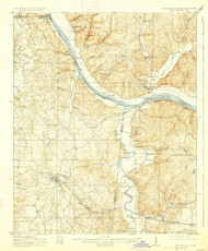 Iuka, Mississippi 1914 (1927) USGS Old Topo Map Reprint 15x15 AL Quad 336938