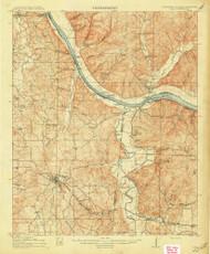 Iuka, Mississippi 1914 (1914) USGS Old Topo Map Reprint 15x15 AL Quad 336937