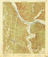 Iuka, Mississippi 1914 (1914) USGS Old Topo Map Reprint 15x15 AL Quad 336935