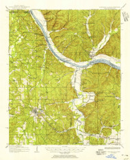 Iuka, Mississippi 1911 (1956) USGS Old Topo Map Reprint 15x15 AL Quad 336939