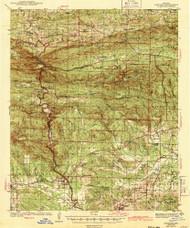 Antoine, Arkansas 1943 (1943) USGS Old Topo Map Reprint 15x15 AR Quad 259974