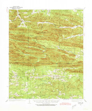 Athens, Arkansas 1936 (1973) USGS Old Topo Map Reprint 15x15 AR Quad 259978