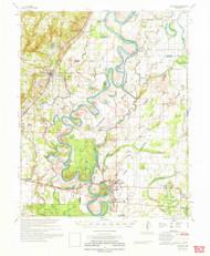 Augusta, Arkansas 1971 (1971) USGS Old Topo Map Reprint 15x15 AR Quad 259983
