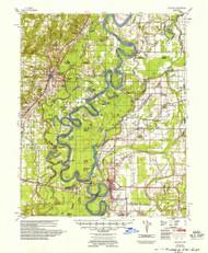 Augusta, Arkansas 1957 (1957) USGS Old Topo Map Reprint 15x15 AR Quad 259982