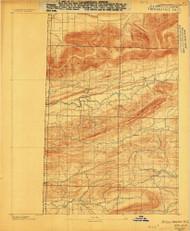 Poteau Mountain #2, Arkansas 1887 (1887) USGS Old Topo Map Reprint 15x15 AR Quad 260251