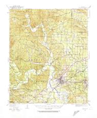 Benton, Arkansas 1938 (1974) USGS Old Topo Map Reprint 15x15 AR Quad 259994