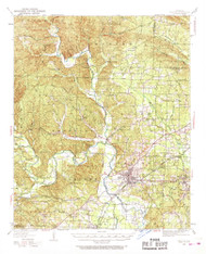 Benton, Arkansas 1938 (1968) USGS Old Topo Map Reprint 15x15 AR Quad 259995
