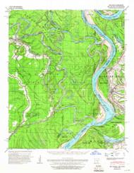 Big Island, Arkansas 1939 (1966) USGS Old Topo Map Reprint 15x15 AR Quad 259998