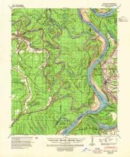 Big Island, Arkansas 1939 (1954) USGS Old Topo Map Reprint 15x15 AR Quad 259999