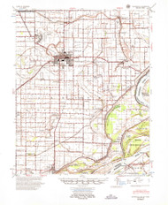 Blytheville, Arkansas 1955 (1955) USGS Old Topo Map Reprint 15x15 AR Quad 260000