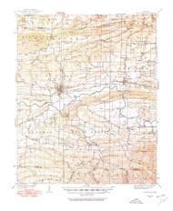 Booneville, Arkansas 1934 (1975) USGS Old Topo Map Reprint 15x15 AR Quad 260003