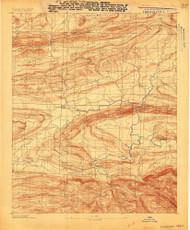 Magazine Mountain #3, Arkansas 1887 (1887) USGS Old Topo Map Reprint 15x15 AR Quad 260159