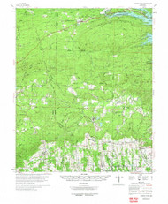 Center Point, Arkansas 1972 (1973) USGS Old Topo Map Reprint 15x15 AR Quad 260008