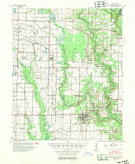De Witt, Arkansas 1954 (1954) USGS Old Topo Map Reprint 15x15 AR Quad 260030