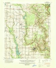 De Witt, Arkansas 1941 (1942) USGS Old Topo Map Reprint 15x15 AR Quad 260029
