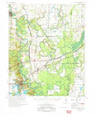 De Valls Bluff, Arkansas 1971 (1971) USGS Old Topo Map Reprint 15x15 AR Quad 260028